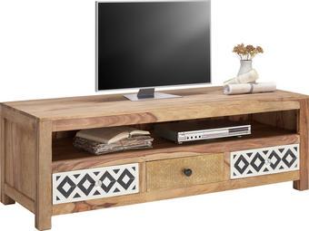 KOMODA LOWBOARD - přírodní barvy, Design, dřevo/textil (150/50/55cm) - LANDSCAPE
