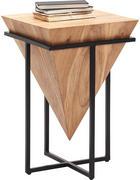 BEISTELLTISCH in Naturfarben, Schwarz  - Schwarz/Naturfarben, Trend, Holz/Metall (41/41/66cm) - Ambia Home
