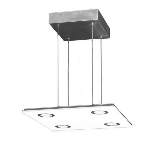 LED-HÄNGELEUCHTE - Silberfarben, Design, Kunststoff/Metall (35/35/1,6cm)