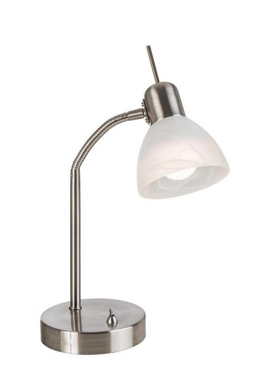 LED-SCHREIBTISCHLEUCHTE - Weiß/Nickelfarben, Design, Glas/Metall (30cm) - Boxxx