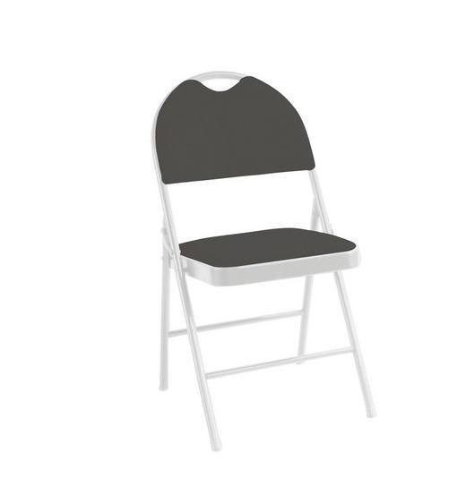 KLAPPSESSEL Grau, Weiß - Weiß/Grau, Design, Textil/Metall (47/88/49,5cm) - CARRYHOME