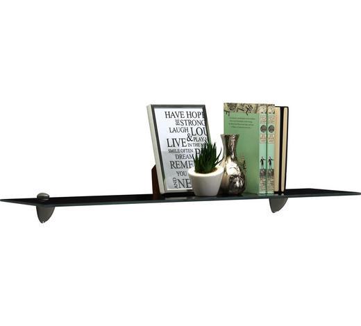 SKLENĚNÁ ODKLÁDACÍ PLOCHA - černá, Konvenční, sklo (78/0,6/18cm) - Boxxx
