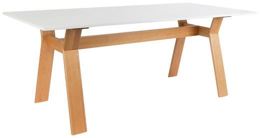 ESSTISCH Eichefarben, Weiß - Eichefarben/Weiß, Design, Holz (200/76/90cm)
