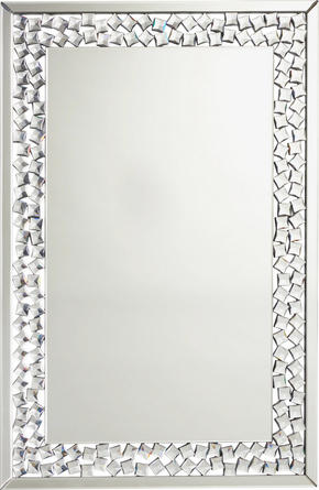 SPEGEL - silver, Design, glas/träbaserade material (80/120/2cm) - Xora