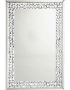 OGLEDALO - boje srebra, Design, staklo/drvni materijal (80/120/2cm) - Xora