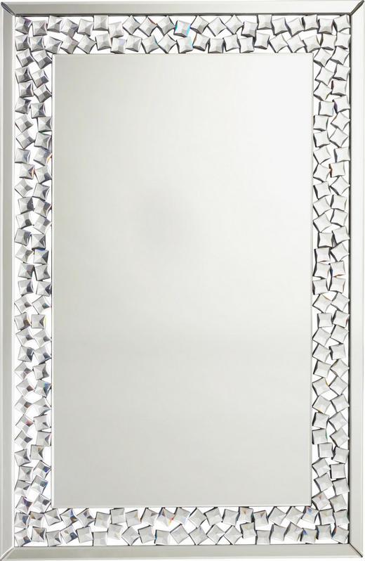 SPIEGEL - Silberfarben, Design, Glas/Holzwerkstoff (80/120/2cm) - XORA