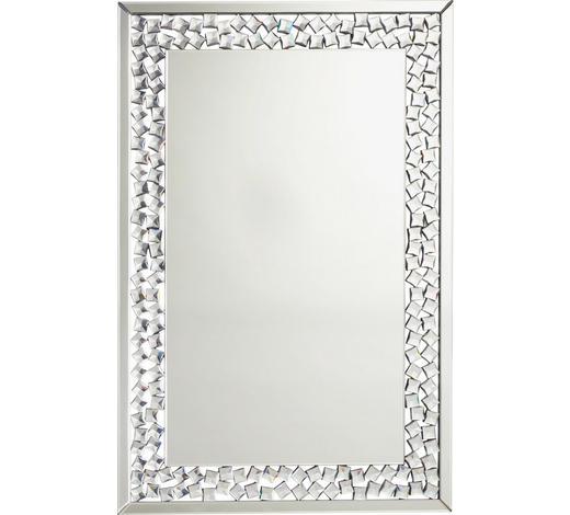 ZRCADLO, 80/120/2 cm,  - barvy stříbra, Design, kompozitní dřevo/sklo (80/120/2cm) - Xora