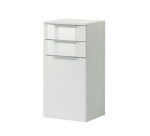 UNTERSCHRANK Weiß  - Silberfarben/Alufarben, Design, Holzwerkstoff/Kunststoff (40/79/35cm) - Xora