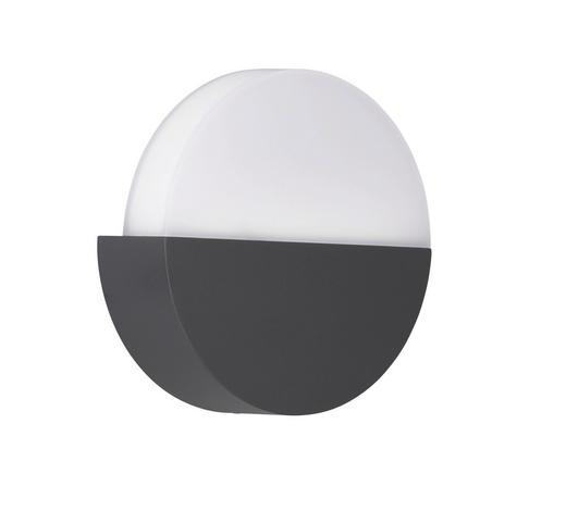 AUßENLEUCHTE - Anthrazit, Design, Metall (18/18/5,5cm)