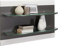 REGAL in 96/61/22 cm Graphitfarben, Weiß - Graphitfarben/Weiß, Design, Glas/Holzwerkstoff (96/61/22cm) - Xora