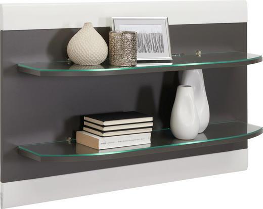 REGAL Graphitfarben, Weiß - Graphitfarben/Weiß, Design, Glas (96/61/22cm) - Xora