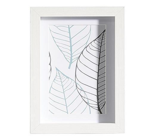 BILDERRAHMEN in Weiß  - Weiß, Basics, Glas/Holz (15/20/3cm)