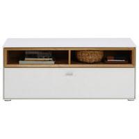 ŠATNÍ LAVICE - bílá/barvy stříbra, Design, kompozitní dřevo/umělá hmota (110/47/35cm) - Hom`in