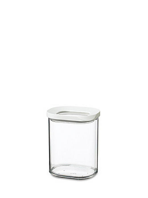 VORRATSDOSE 0,375 L - Transparent/Weiß, Basics, Kunststoff (0.375l) - MEPAL ROSTI