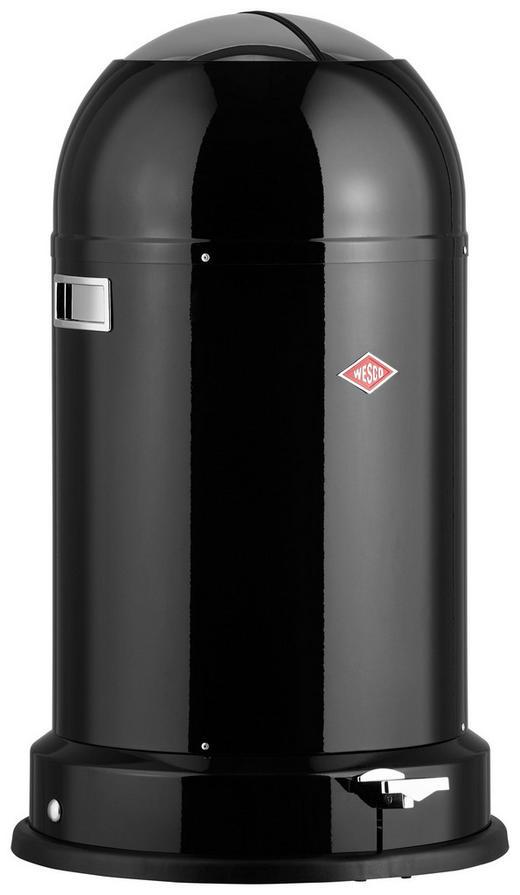 ABFALLEIMER Kickmaster cl SOFT 33 L - Schwarz, Basics, Kunststoff/Metall (41/69cm) - Wesco