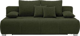 SCHLAFSOFA in Textil Dunkelgrün - Chromfarben/Dunkelgrün, Design, Kunststoff/Textil (212/72-90/108cm) - Hom`in
