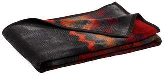 WOHNDECKE 150/200 cm Grau, Rot  - Rot/Grau, LIFESTYLE, Textil (150/200cm) - Novel