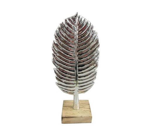 DEKOFEDER - Silberfarben, Design, Kunststoff (12/27,5/8cm) - Ambia Home