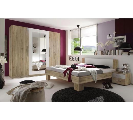 SPAVAĆA SOBA bijela, boje hrasta   - bijela/boje hrasta, Design, drvni materijal (180/200cm) - Boxxx
