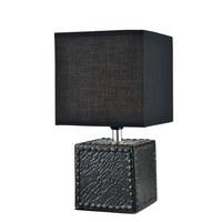 NAMIZNA SVETILKA - črna, Design, tekstil/keramika (15/15/30cm) - Boxxx