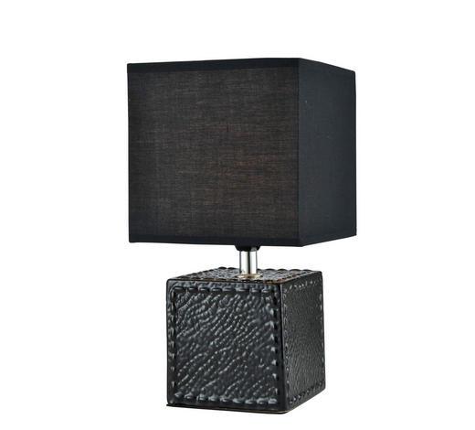 TISCHLEUCHTE - Schwarz, Design, Keramik/Textil (15,5/15,5/28,5cm) - Boxxx