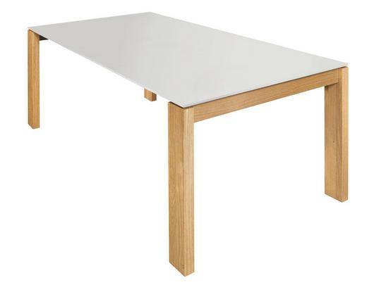 ESSTISCH Eiche furniert rechteckig Weiß, Eichefarben - Eichefarben/Weiß, Design, Holz (200/100/75cm) - Now by Hülsta