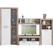 DNEVNI REGAL  bela, hrast - bela/hrast, Design, umetna masa/steklo (271/194/42cm) - CARRYHOME