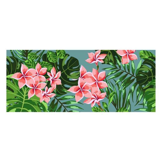 LÄUFER  In-/ Outdoor 50/120 cm  Grün, Pink, Rosa - Pink/Rosa, Trend, Kunststoff (50/120cm)