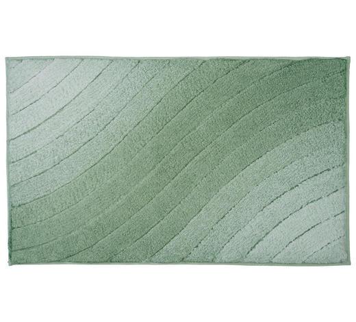 BADTEPPICH in Grün 70/120 cm - Grün, KONVENTIONELL, Kunststoff/Textil (70/120cm) - Kleine Wolke