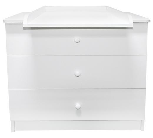 KOMODA ZA PREVIJANJE - bijela, Basics, drvni materijal/drvo (87cm) - My Baby Lou