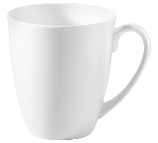 LONČEK ZA KAVO ROUND, 375 ML - bela, Basics, keramika (8,5/10cm) - Novel