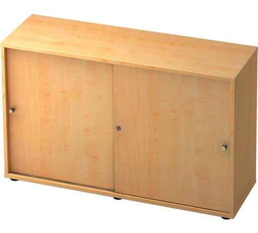 KOMMODE melaminharzbeschichtet Ahornfarben  - Silberfarben/Ahornfarben, KONVENTIONELL, Holzwerkstoff/Metall (120/74,8/40cm)