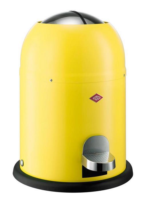 ABFALLSAMMLER SINGLE MASTER 9 L - Edelstahlfarben/Gelb, Kunststoff/Metall (30/40cm) - Wesco