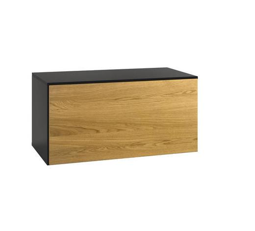 HÄNGESCHRANK  - Schieferfarben/Eichefarben, Design, Holz/Holzwerkstoff (75/37,5/39,2cm) - Now by Hülsta