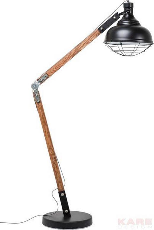 BOGENLEUCHTE - Schwarz/Naturfarben, Design, Holz/Metall (37/175/55cm) - Kare-Design