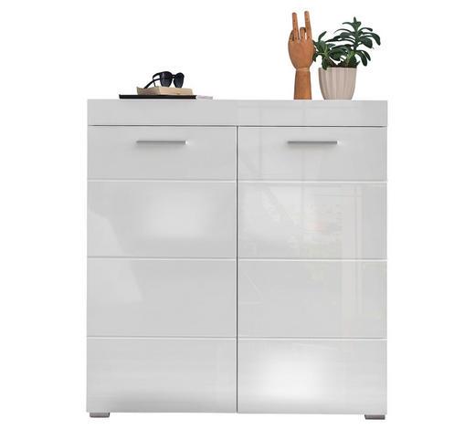 SCHUHSCHRANK 91/97/38 cm - Silberfarben/Weiß, Design, Holzwerkstoff/Kunststoff (91/97/38cm) - Carryhome