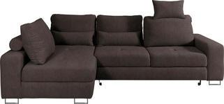 WOHNLANDSCHAFT in Braun Textil - Braun, Design, Textil/Metall (188/260cm) - Hom`in
