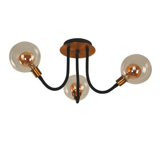 LED-DECKENLEUCHTE - Klar/Goldfarben, LIFESTYLE, Glas/Metall (60cm)