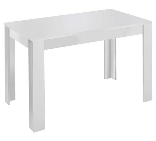 ESSTISCH rechteckig Weiß  - Weiß, MODERN (140/80/75cm) - Carryhome