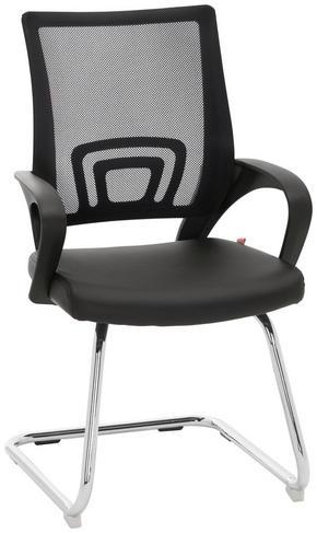 BESÖKSSTOL - kromfärg/svart, Design, metall/textil (55/92/55cm) - Xora