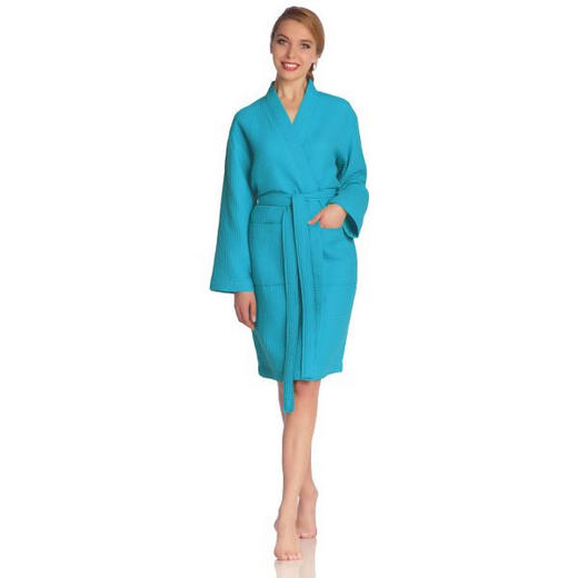 BADEMANTEL  Blau - Blau, Basics, Textil (XL) - Vossen