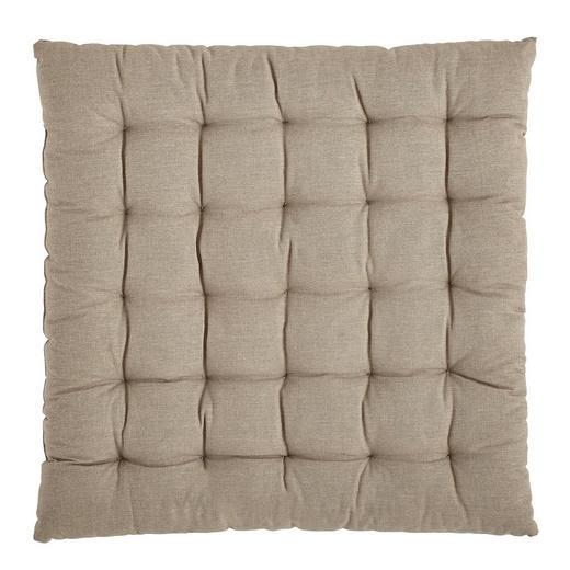 SITZKISSEN Taupe 40/40/3,5 cm - Taupe, Design, Textil (40/40/3,5cm) - Boxxx