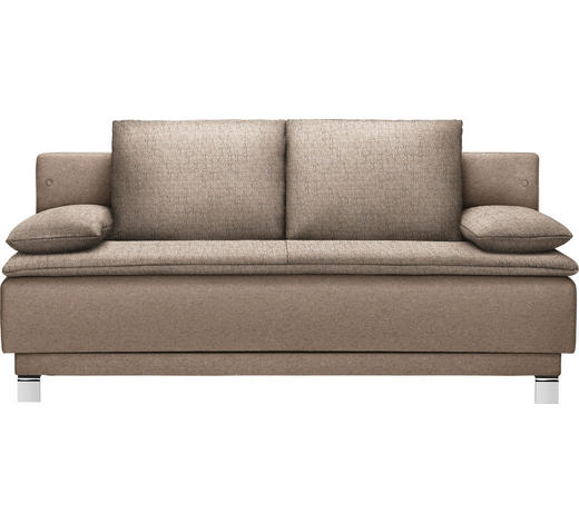 SCHLAFSOFA in Textil Braun  - Braun, Design, Textil/Metall (200/85/90cm) - Joka