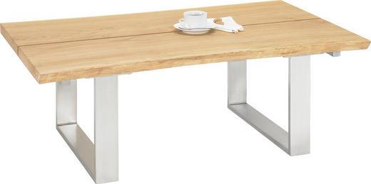 COUCHTISCH Asteiche massiv rechteckig Eichefarben - Eichefarben, Design, Holz/Metall (120/75/43cm) - Linea Natura