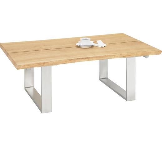 COUCHTISCH in Holz, Metall 120/75/43 cm - Eichefarben, Design, Holz/Metall (120/75/43cm)