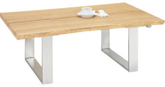 KONFERENČNÍ STOLEK, sukový dub, barvy dubu - barvy dubu, Design, kov/dřevo (120/75/43cm)