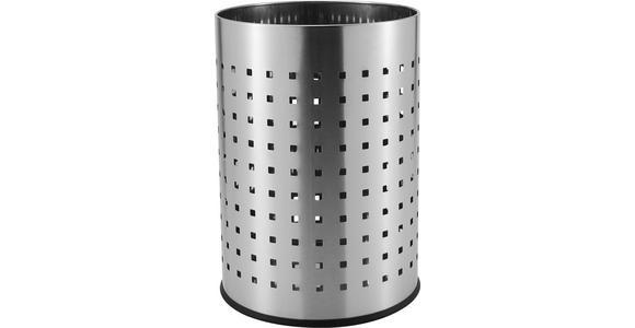PAPIERKORB 12 L  - Edelstahlfarben, Basics, Metall (25,5/35,5cm) - Homeware