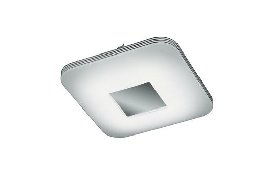 LED-DECKENLEUCHTE - Chromfarben/Weiß, Design, Kunststoff (33/33cm) - Novel