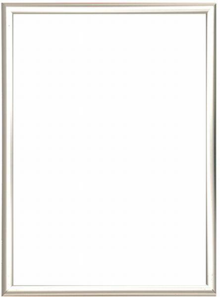 BILDERRAHMEN  Silberfarben - Silberfarben, Basics, Glas/Kunststoff (93/63/2cm)