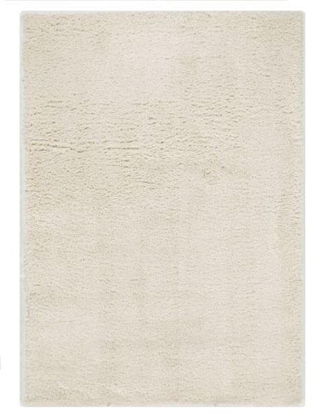 HOCHFLORTEPPICH 133/195 Cm Creme, Weiß   Creme/Weiß, Basics, Textil